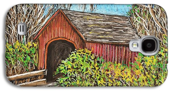 Covered Bridge Paintings Galaxy S4 Cases - Covered Bridge Galaxy S4 Case by Reb Frost