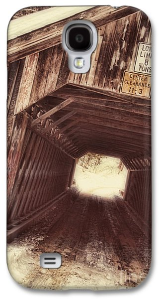 Covered Bridge Paintings Galaxy S4 Cases - Covered Bridge Vermont Galaxy S4 Case by Mindy Sommers