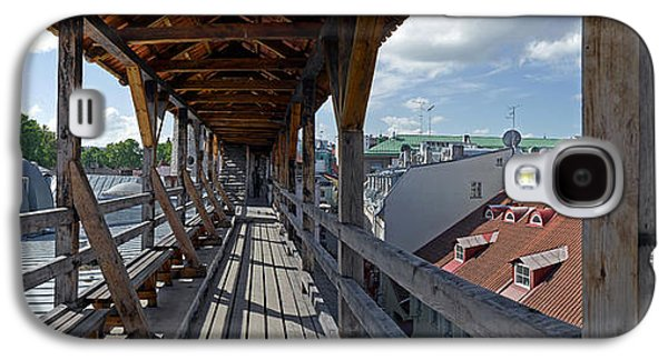 Tallinn Galaxy S4 Cases - Covered Bridge With St Olafs Church Galaxy S4 Case by Panoramic Images
