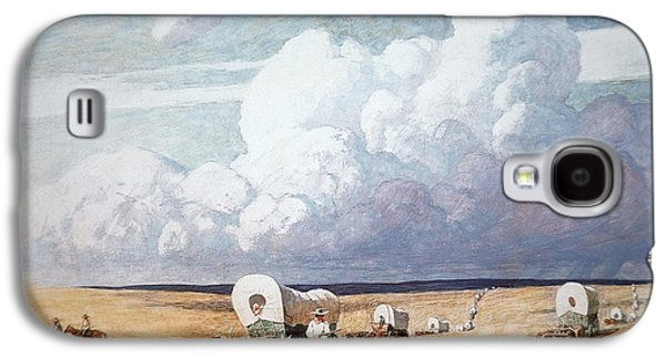 Covered Wagons Heading West Galaxy S4 Case by Newell Convers Wyeth