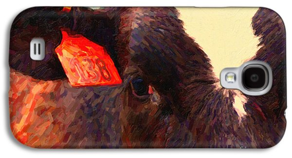 Cow Digital Galaxy S4 Cases - Cow 138 Reinterpreted Galaxy S4 Case by Wingsdomain Art and Photography