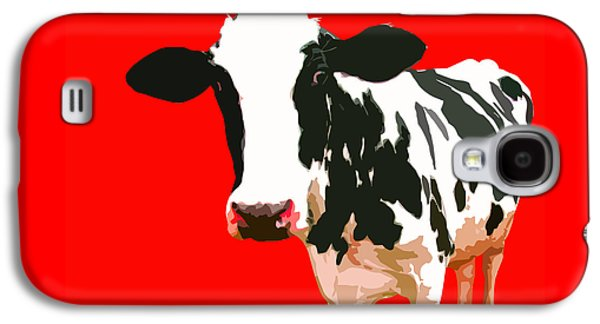 Cow Digital Galaxy S4 Cases - Cow in red world Galaxy S4 Case by Peter Oconor
