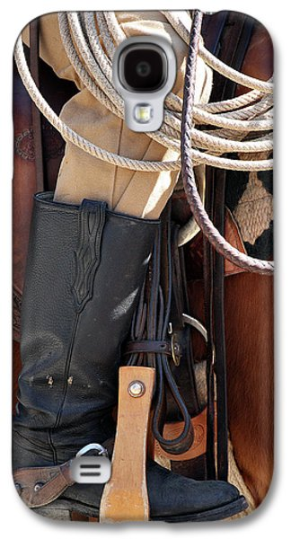 Person Galaxy S4 Cases - Cowboy Tack Galaxy S4 Case by Joan Carroll