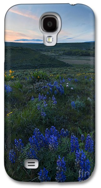 Yakima Valley Galaxy S4 Cases - Cowiche Wildflower Sunset Galaxy S4 Case by Mike Dawson