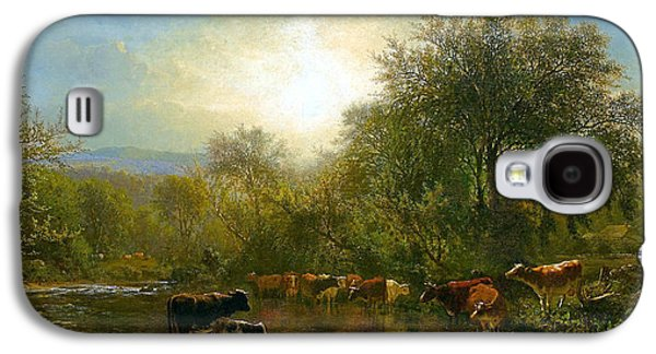Cows Watering Galaxy S4 Case by James McDougal Hart