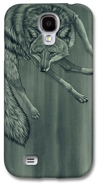 Dogs Digital Art Galaxy S4 Cases - Coyote Galaxy S4 Case by Aaron Blaise