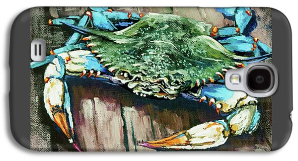 Food Galaxy S4 Cases - Crabby Blue Galaxy S4 Case by Dianne Parks