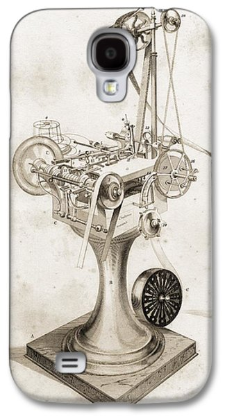 Machinery Drawings Galaxy S4 Cases - Crabtree S Card Setting Machine. Copied Galaxy S4 Case by Vintage Design Pics