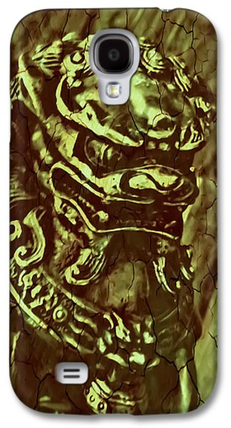 Abstract Digital Digital Galaxy S4 Cases - Cracked Foo Galaxy S4 Case by Heather Joyce Morrill