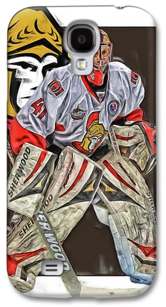 Craig Anderson Ottawa Senators Oil Art Galaxy S4 Case by Joe Hamilton