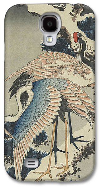 Cranes On Pine Galaxy S4 Case by Hokusai