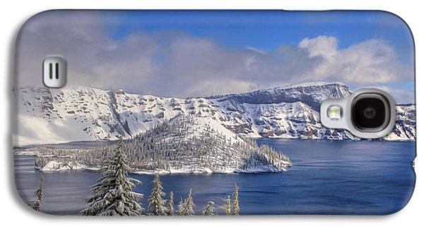 Landscapes Photographs Galaxy S4 Cases - Crater Lake Galaxy S4 Case by Donna Kennedy