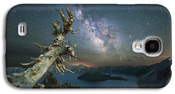 Recently Sold -  - Fantasy Photographs Galaxy S4 Cases - Crater Lake Milky Way Galaxy S4 Case by Keith Marsh
