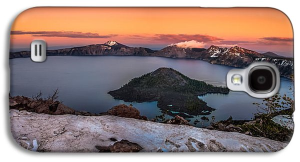 Fantasy Photographs Galaxy S4 Cases - Crater Lake Summer Sunset Galaxy S4 Case by Scott McGuire