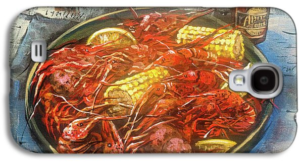French Quarter Paintings Galaxy S4 Cases - Crawfish Celebration Galaxy S4 Case by Dianne Parks