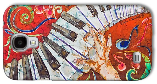 Studio Tapestries - Textiles Galaxy S4 Cases - Crazy Fingers - Piano Keyboard  Galaxy S4 Case by Sue Duda