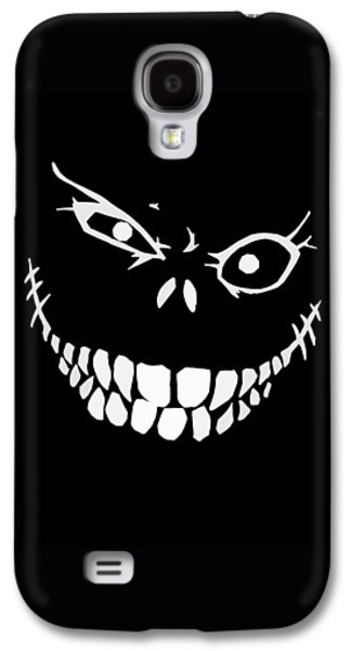 Creepy Galaxy S4 Cases - Crazy Monster Grin Galaxy S4 Case by Nicklas Gustafsson