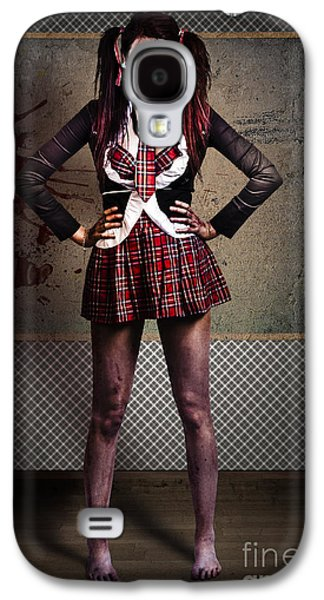 Haunted Schools Galaxy S4 Cases - Crazy zombie school student. Tales from the crypt  Galaxy S4 Case by Ryan Jorgensen