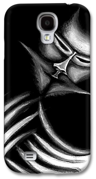 Creepy Paintings Galaxy S4 Cases - Creepy Figure Galaxy S4 Case by Jera Sky