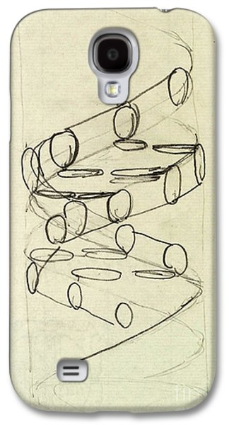 Cricks Original Dna Sketch Galaxy S4 Case by Science Source