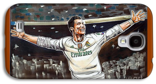 Cristiano Ronaldo Of Real Madrid Galaxy S4 Case by Dave Olsen