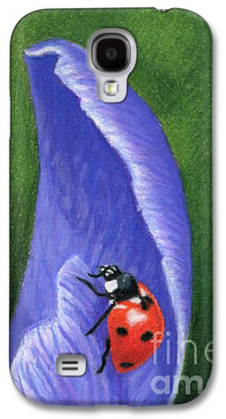 Crocus And Ladybug Detail Galaxy S4 Case by Sarah Batalka