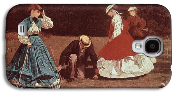 Pastimes Galaxy S4 Cases - Croquet Scene Galaxy S4 Case by Winslow Homer