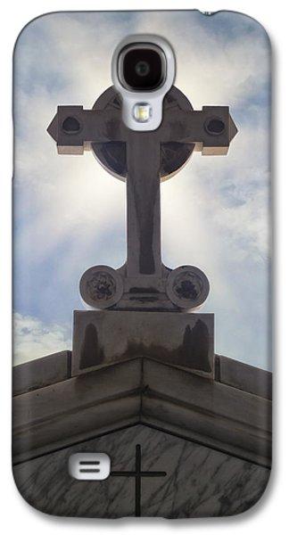 Crosses Photographs Galaxy S4 Cases - Cross Against The Sky Galaxy S4 Case by Joana Kruse