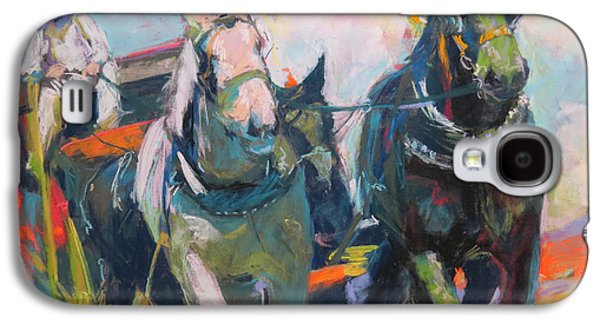 Horse And Cart Pastels Galaxy S4 Cases - Crossing the Divide Galaxy S4 Case by Sandy  Lindblad
