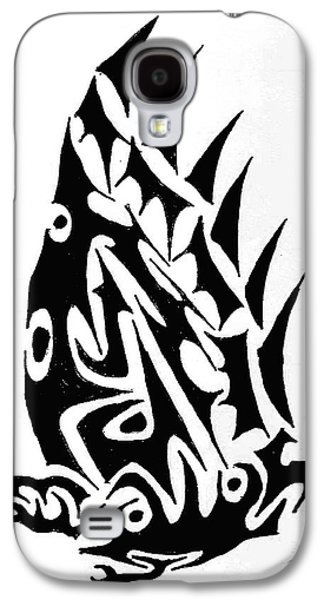 Abstract Digital Drawings Galaxy S4 Cases - Crow Galaxy S4 Case by Ashley Teeter