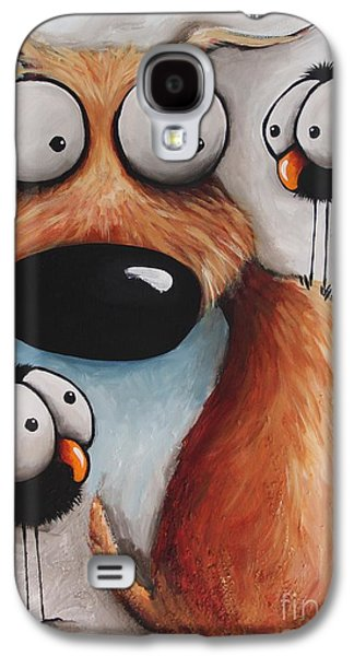 Crows Black Paintings Galaxy S4 Cases - Crowded Friday Galaxy S4 Case by Lucia Stewart