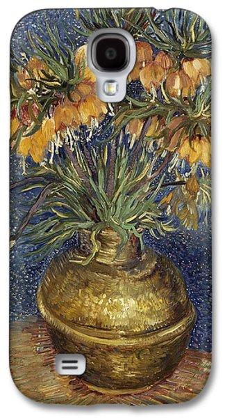Crown Imperial Fritillaries In A Copper Vase Galaxy S4 Case by Van Gogh