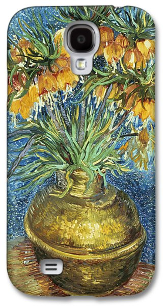 Copper Galaxy S4 Cases - Crown Imperial Fritillaries in a Copper Vase Galaxy S4 Case by Vincent Van Gogh