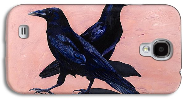 Crows Paintings Galaxy S4 Cases - Crows Galaxy S4 Case by Sandi Baker