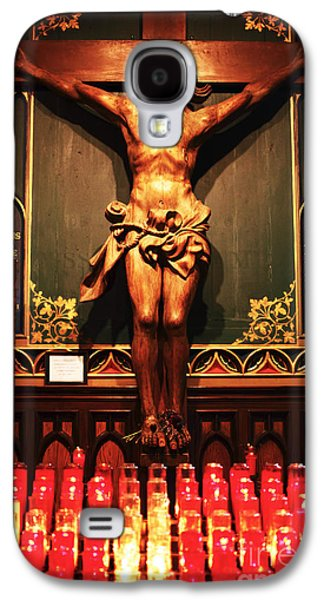 Old Montreal Galaxy S4 Cases - Crucifix at Notre Dame Galaxy S4 Case by John Rizzuto