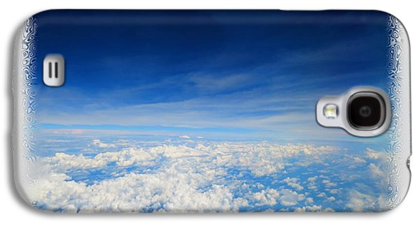 Blue Abstracts Galaxy S4 Cases - Cruising Altitude Duvet Cover Galaxy S4 Case by Shelly Weingart