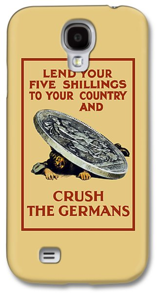 Ww1 Galaxy S4 Cases - Crush The Germans - WW1 Galaxy S4 Case by War Is Hell Store