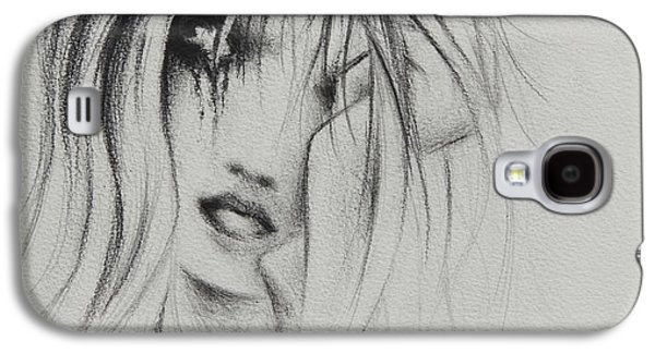 Crying Drawings Galaxy S4 Cases - Cry Baby Galaxy S4 Case by Rachel Christine Nowicki