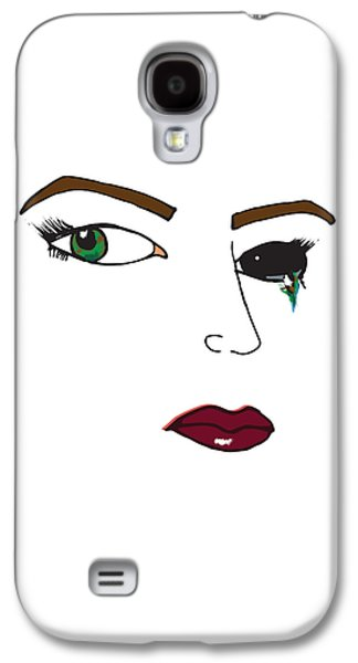 Crying Drawings Galaxy S4 Cases - Cry Your Eye Out Galaxy S4 Case by Alana Gillihan