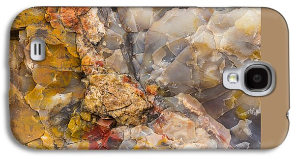 Nature Abstracts Galaxy S4 Cases - Crystal Forest Abstract Galaxy S4 Case by Penny Meyers