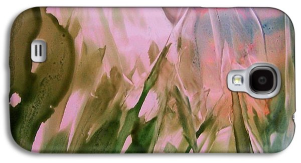 Blue Abstracts Ceramics Galaxy S4 Cases - Crystalline Forest Galaxy S4 Case by Sherri Patterson