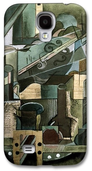 Abstract Collage Drawings Galaxy S4 Cases - Cubism Galaxy S4 Case by Noor Shaikh