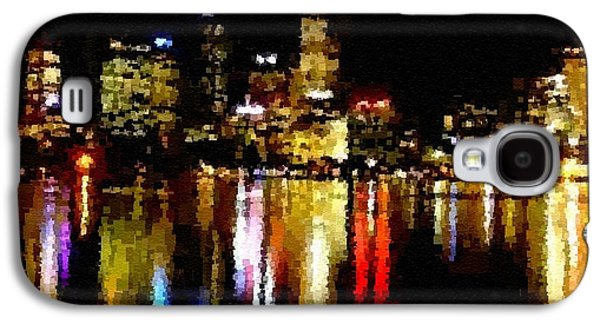 Abstract Digital Pastels Galaxy S4 Cases - Cubist City Skyline Catus 1 no. 1 H A Galaxy S4 Case by Gert J Rheeders