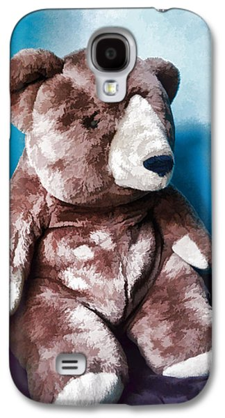 Portraits Tapestries - Textiles Galaxy S4 Cases - Cuddly Teddy...stuffed Animal Galaxy S4 Case by Tom Druin