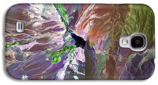 Cuesta Del Viento Reservoir Argentina Galaxy S4 Case by Elaine Plesser