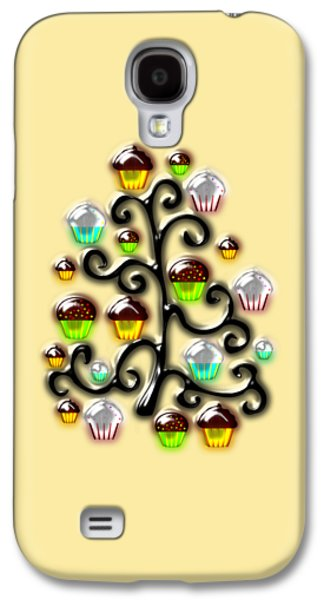 Cartoon Galaxy S4 Cases - Cupcake Glass Tree Galaxy S4 Case by Anastasiya Malakhova