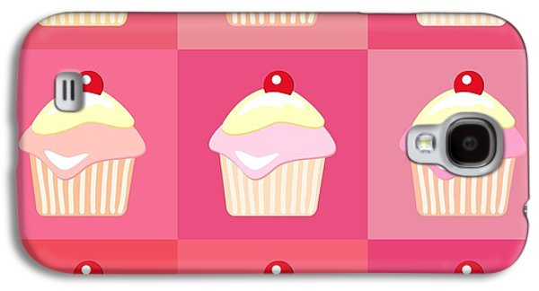 Holiday Galaxy S4 Cases - Cupcakes pop art  Galaxy S4 Case by Jane Rix