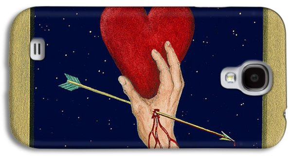 Cupid Galaxy S4 Cases - Cupids Arrow Galaxy S4 Case by Charles Harden