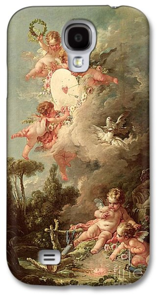 Cartoon Galaxy S4 Cases - Cupids Target Galaxy S4 Case by Francois Boucher