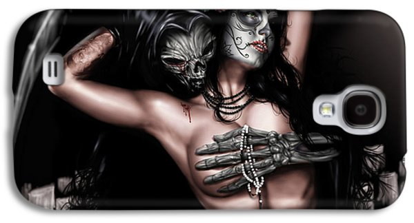 Black Drawings Galaxy S4 Cases - Cure my Tragedy Galaxy S4 Case by Pete Tapang
